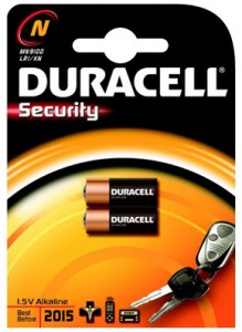 Duracell Security 2 x N MN9100 Batteries