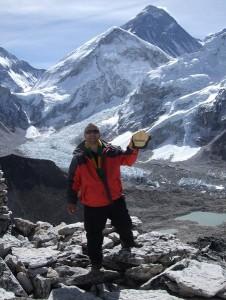 Eddie on Top of Mount Kala Patthar