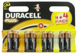 Duracell Plus 4 x AA MN1500 4 x Free AA Batteries