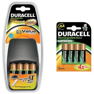 Duracell Value Battery Charger and Duracell Supreme AA Rechargeable Batteries Offer