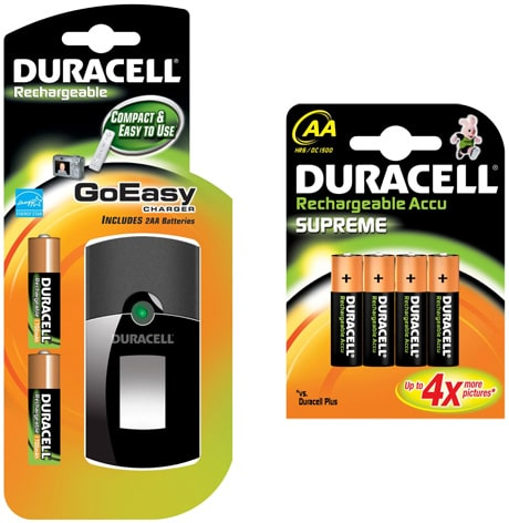 Duracell GoEasy Battery Charger and Duracell Supreme AA Rechargeable Batteries Offer