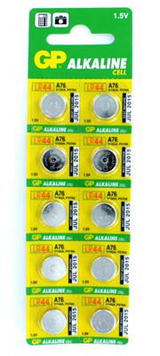 GP Alkaline A76 LR44 Button Cell Batteries