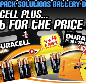 Cell Pack Solutions Battery Deal Duracell Plus 16 for the Price of 8