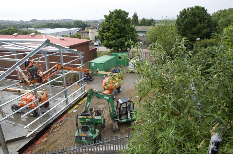 Builders Caught Using Crane 2