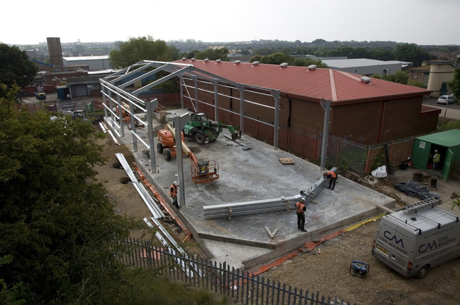 Steel Frames Nearly Completed 1