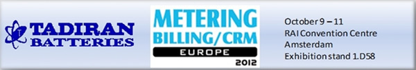 Tadiran Batteries Exhibition Metering Billing / CRM Europe 2012