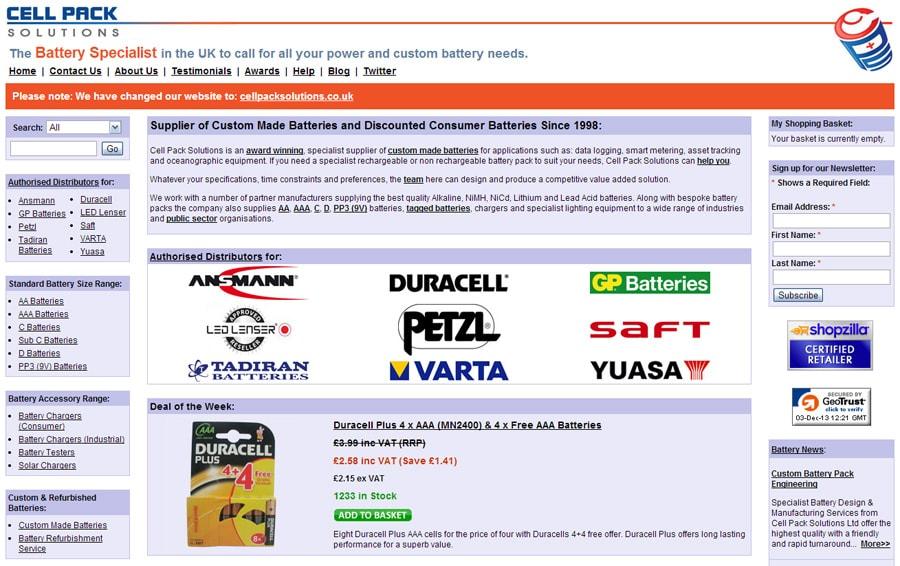 Former Website Screenshot