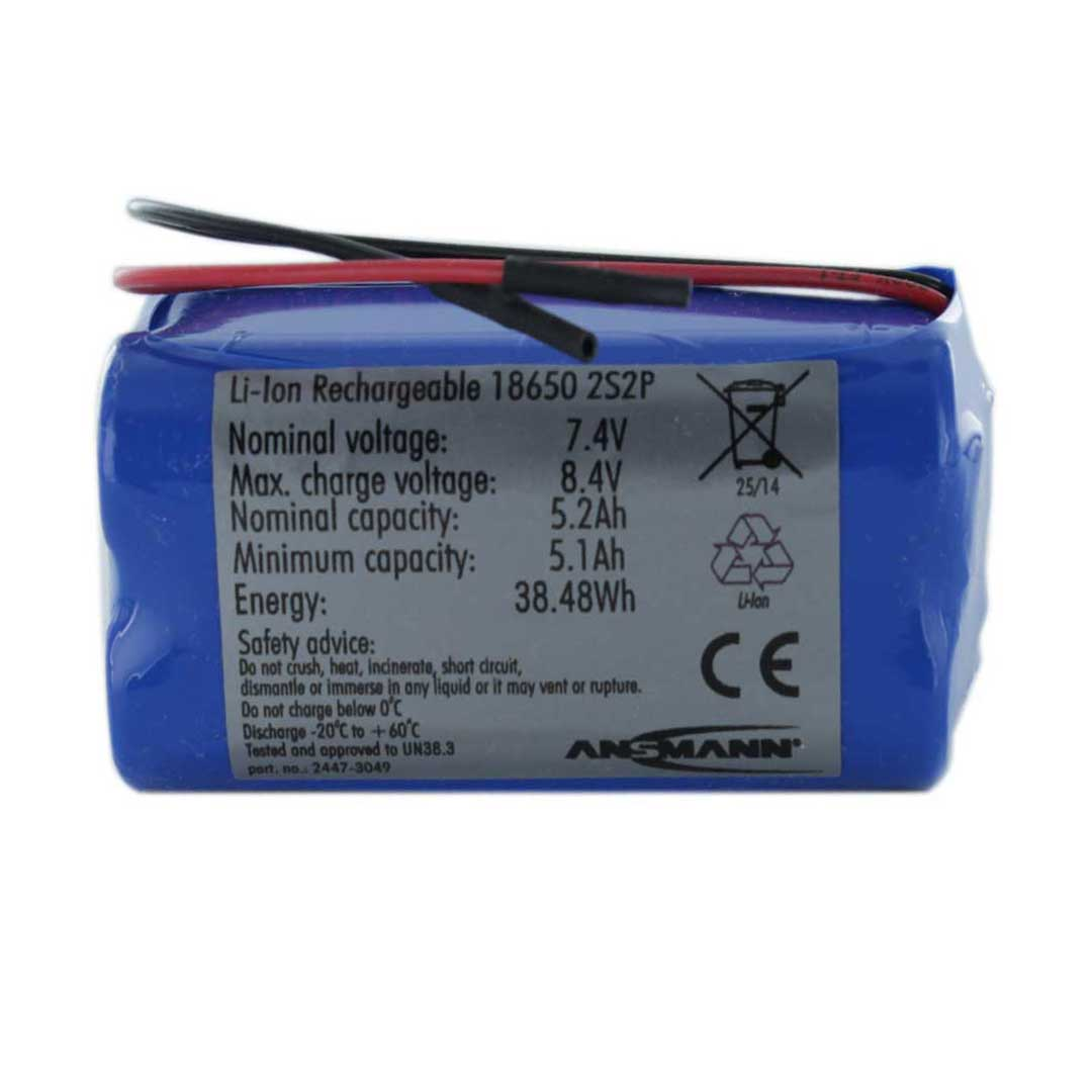Ansmann Standard Li-ion 2S2P 7.4V / 5200mAh Battery Pack