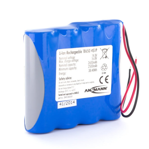 Ansmann Standard Li-ion 4S1P 14.8V / 2600mAh Battery Pack (Inline)