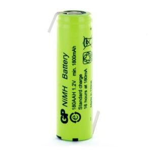 GP Batteries GP180AAHHB AA Rechargeable Opposite Tagged Battery