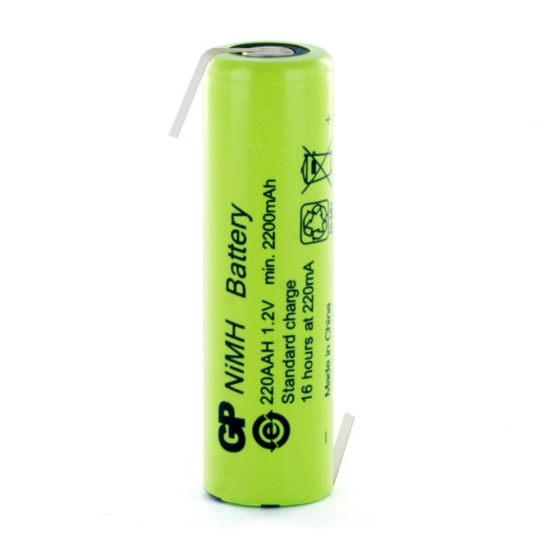 GP Batteries GP220AAHHB AA Rechargeable Opposite Tagged Battery