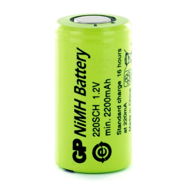 GP Batteries GP220SCH Sub C Rechargeable Battery