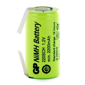 GP Batteries GP220SCH/T Sub C Rechargeable Tagged Battery