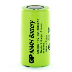 GP Batteries GP330SCH Sub C Rechargeable Battery