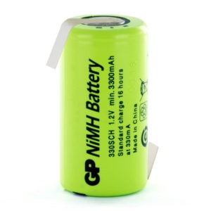 GP Batteries GP330SCHHB Sub C Rechargeable Opposite Tagged Battery