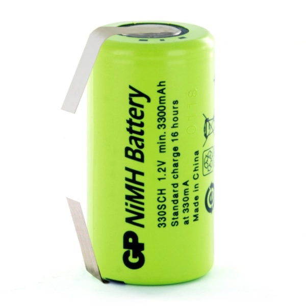 GP Batteries GP330SCH/T Sub C Rechargeable Tagged Battery
