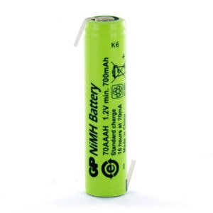 GP Batteries GP70AAAHHB AAA Rechargeable Opposite Tagged Battery