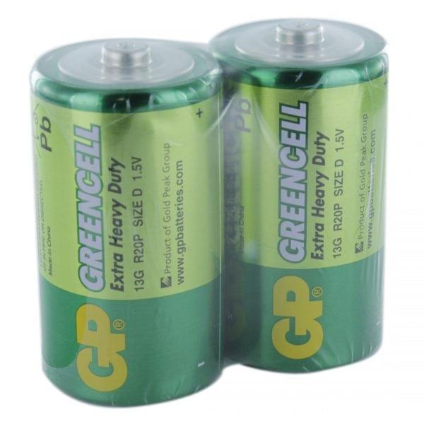 GP Batteries Greencell 2 x D (GP13G) Batteries