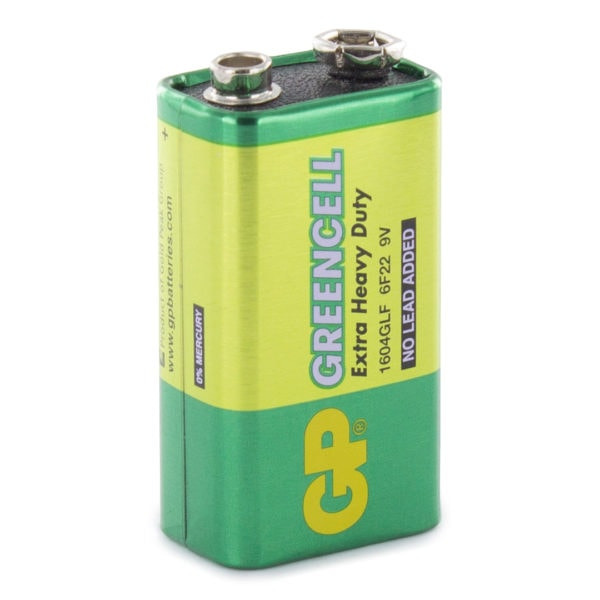 GP Batteries Greencell PP3 (9V) Battery