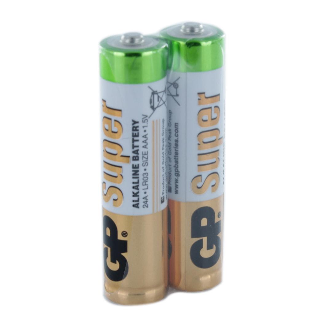 GP Batteries Super Alkaline 2 x AAA (GP24A) Batteries