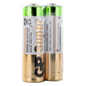 GP Batteries Super Alkaline AA Batteries | Shrink of 2