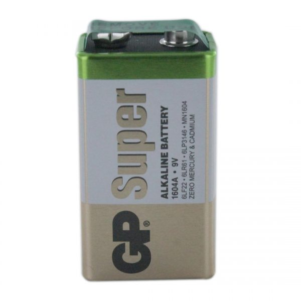 GP Batteries Super Alkaline PP3 (9V / GP1604A) Battery