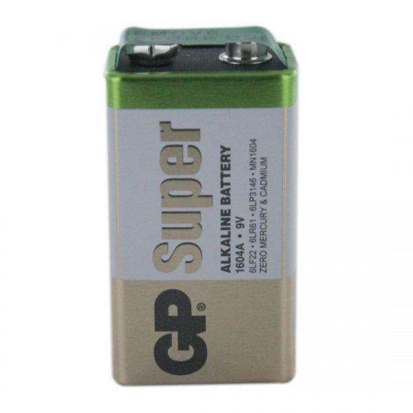 GP Batteries Super Alkaline PP3 (9V / GP1604A) Battery