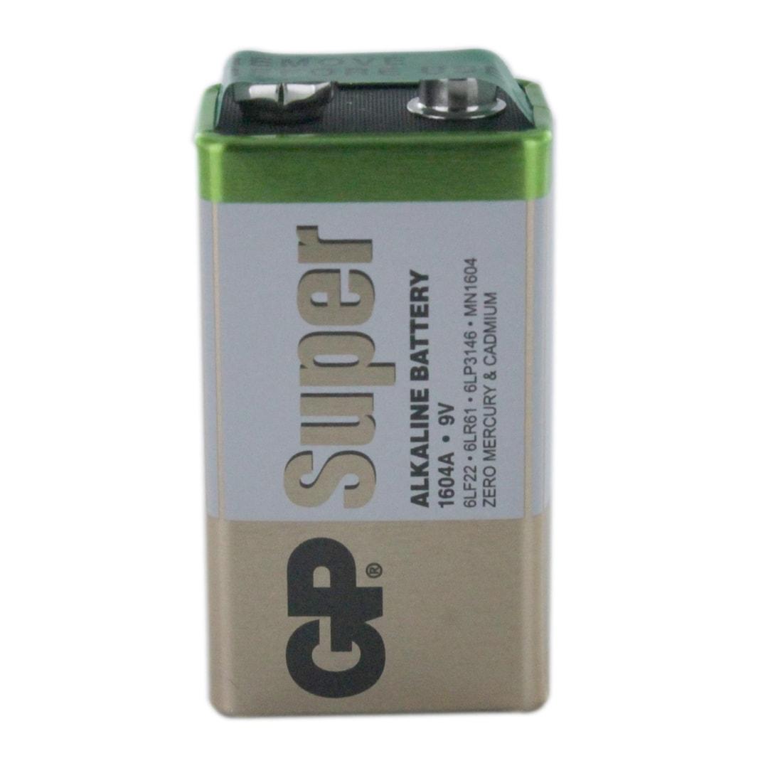 Gp Batteries Super Alkaline Pp3 9v Gp1604a Battery