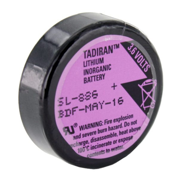 Tadiran Lithium SL-886 1/6 D Battery (Pins)