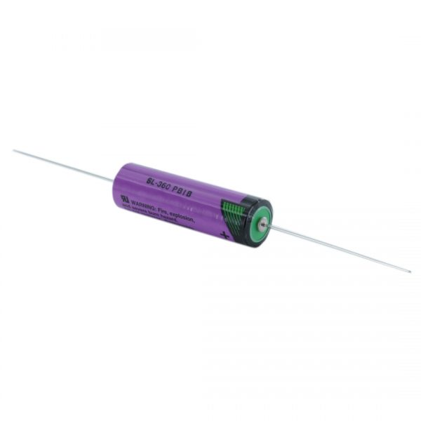 Tadiran Lithium SL360/P AA Tagged Battery (Axial Pins)