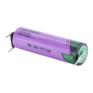 Tadiran Lithium SL360/PT AA Tagged Battery (Polarised Pins)
