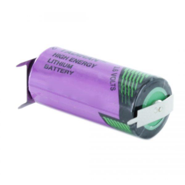 Tadiran Lithium SL361/PT 2/3 AA Tagged Battery (Polarised Pins)