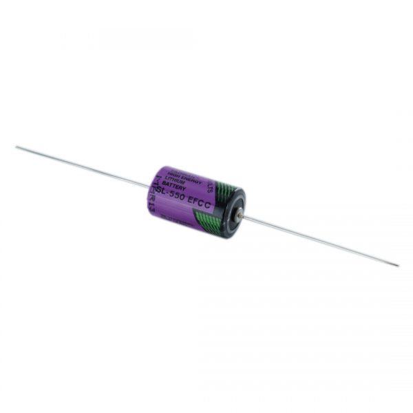 Tadiran Lithium SL550/P 1/2 AA Tagged Battery (Axial Pins)