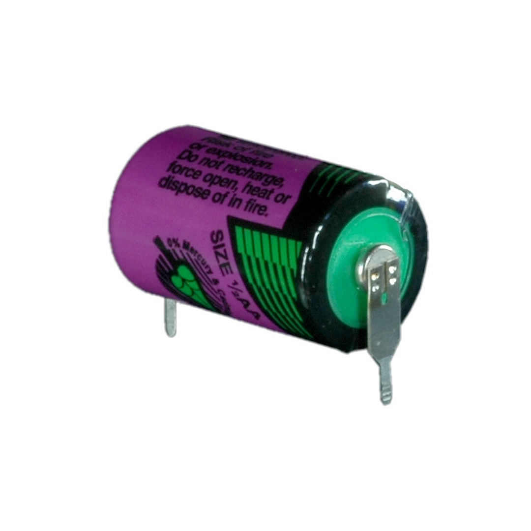 Tadiran Lithium SL550/PR 1/2 AA Tagged Battery (Radial Pins)