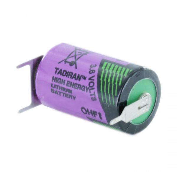 Tadiran Lithium SL550/PT 1/2 AA Tagged Battery (Polarised Pins)