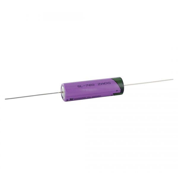 Tadiran Lithium Sl760p AA Tagged Battery Axial Pins