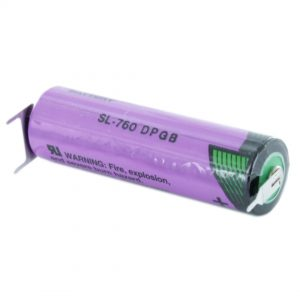 Tadiran Lithium SL760/PT AA Tagged Battery (Polarised Pins)