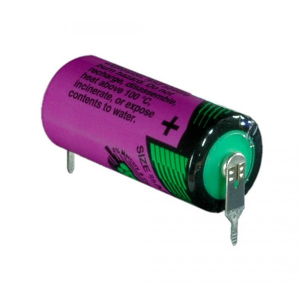 Tadiran Lithium SL761/PR 2/3 AA Tagged Battery (Radial Pins)