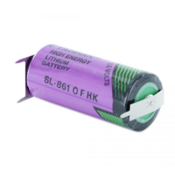Tadiran Lithium SL861/PT 2/3 AA Tagged Battery (Polarised Pins)