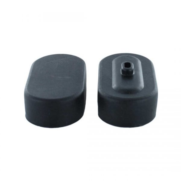 Pair of End Caps for Sub-C Size Battery Packs (Black)