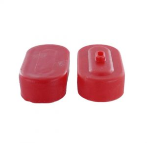 Pair of End Caps for Sub-C Size Battery Packs (Red)