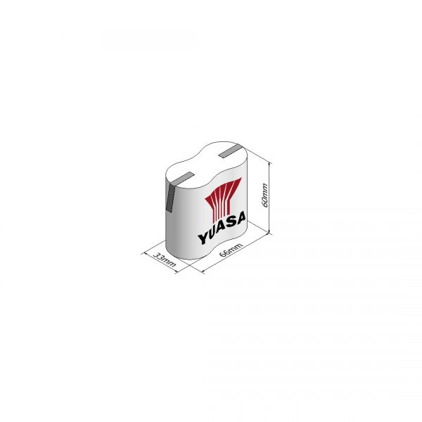 Yuasa 2DH4-0T3 Rechargeable Emergency Lighting Battery Pack