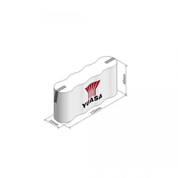 Yuasa 4DH4-0T3 Rechargeable Emergency Lighting Battery Pack