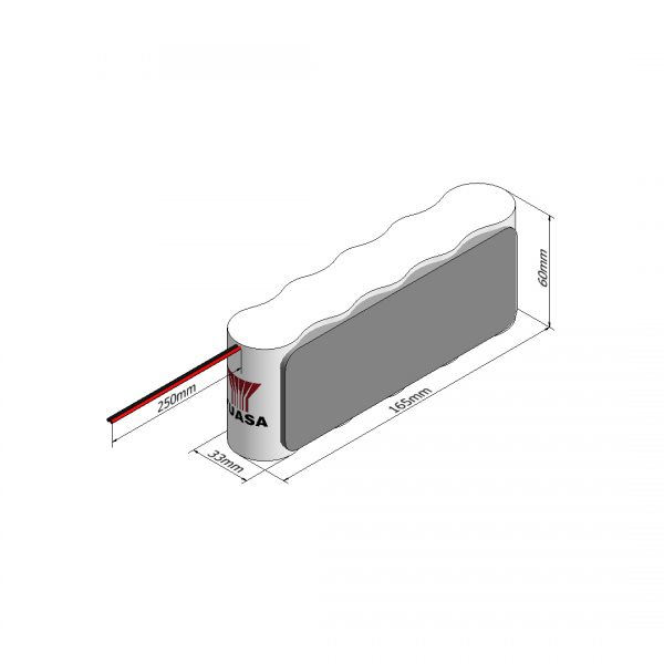 Yuasa 5DH4-0LP3 Rechargeable Emergency Lighting Battery Pack