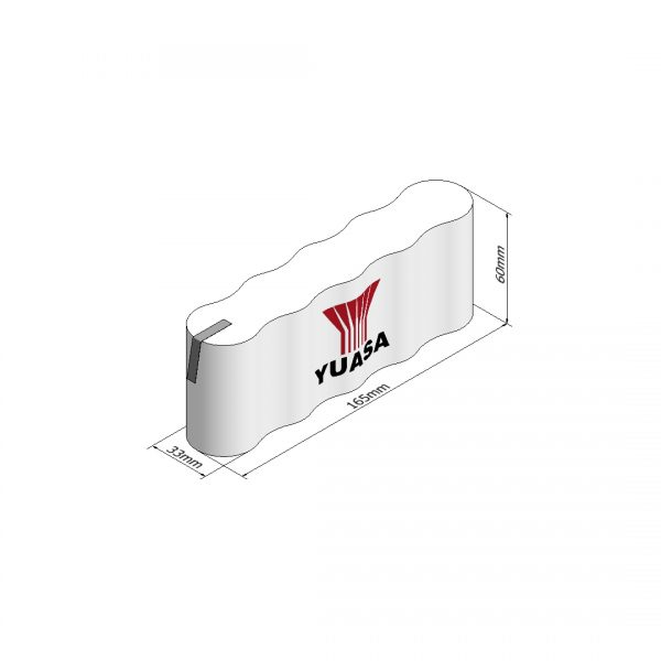 Yuasa 5DH4-0T3 Rechargeable Emergency Lighting Battery Pack