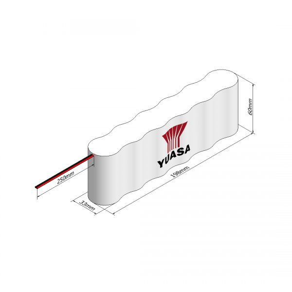 Yuasa 6DH4-0L3 Rechargeable Emergency Lighting Battery Pack