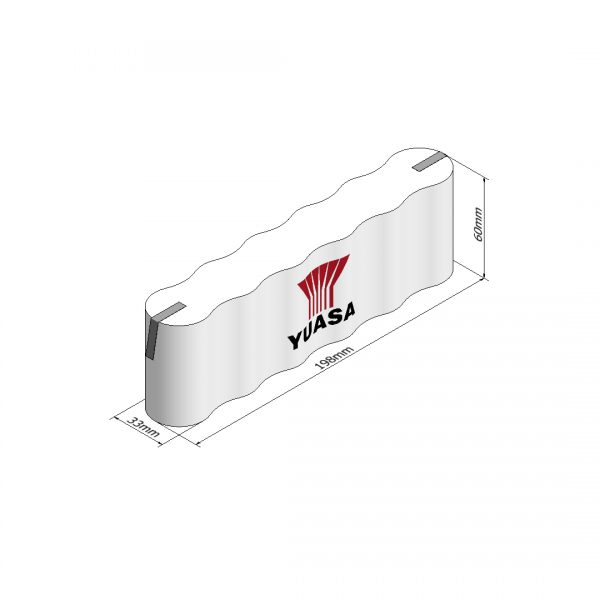 Yuasa 6DH4-0T3 Rechargeable Emergency Lighting Battery Pack