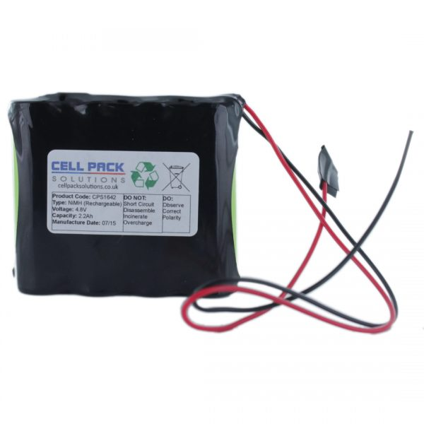 Cell Pack Solutions (CPS1642) 4.8V 2.2Ah NiMH Battery Pack (4C Format)