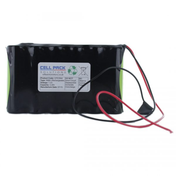 Cell Pack Solutions (CPS1644) 7.2V 2.2Ah NiMH Battery Pack (6C Format)