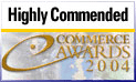 Highly Commended Ecommerce Awards 2004 Logo